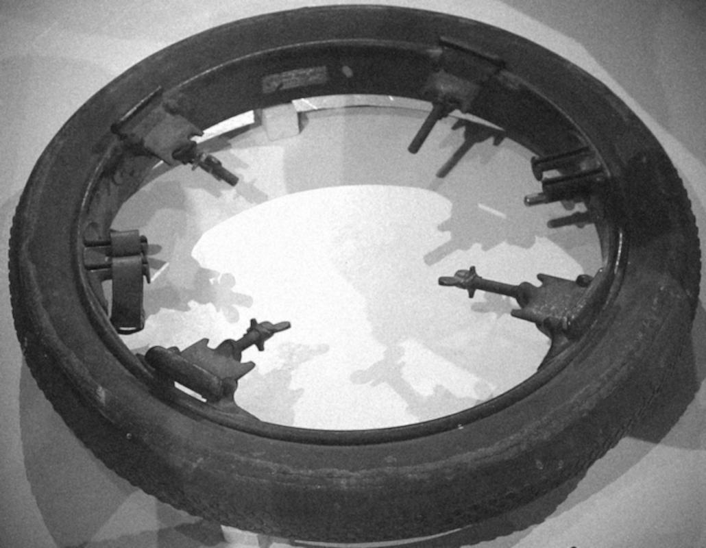 A 'Stepney' bolt-on spare wheel rim