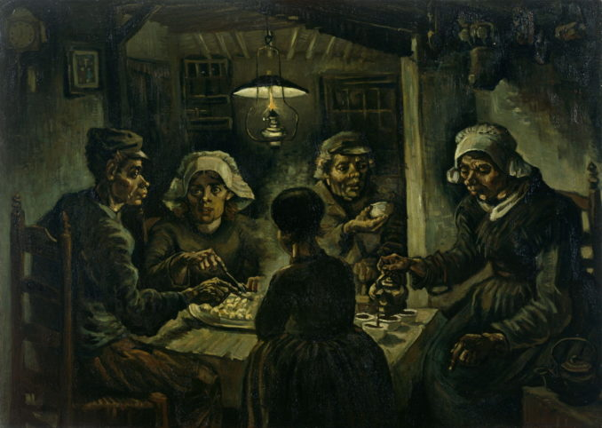 The Potato Eaters by Van Gogh, 1885