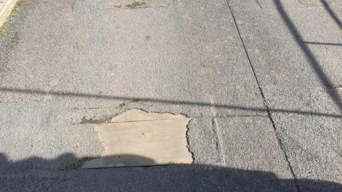 Union Bridge potholes