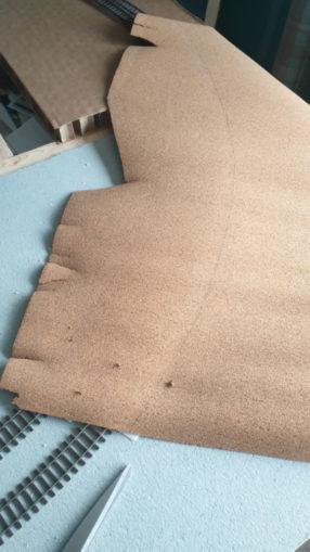 Cork sheet prior to cutting