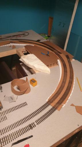 Cork added under track