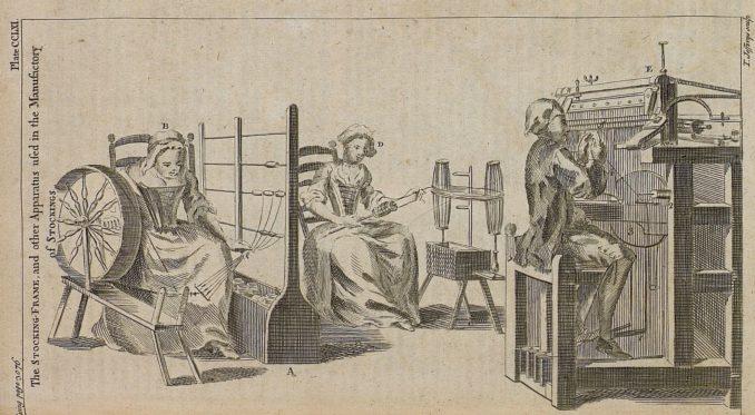 18th century textile manufacturing apparatus