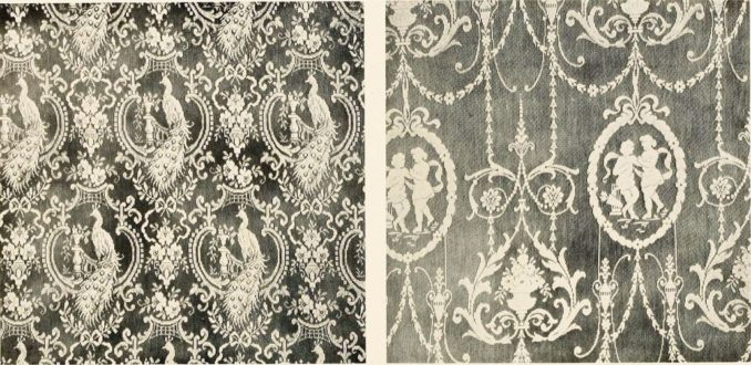 Decorative lace curtaining samples
