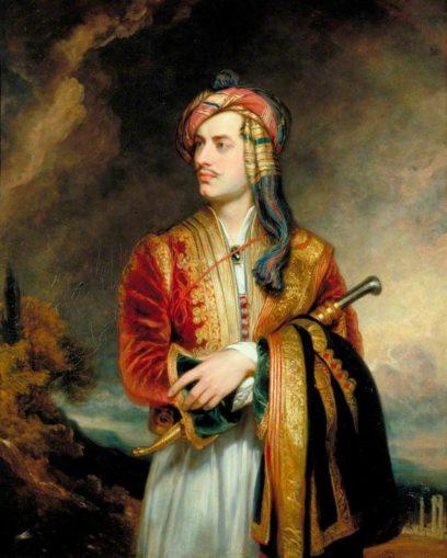 George Gordon Byron, 6th Baron Byron, in Albanian costume